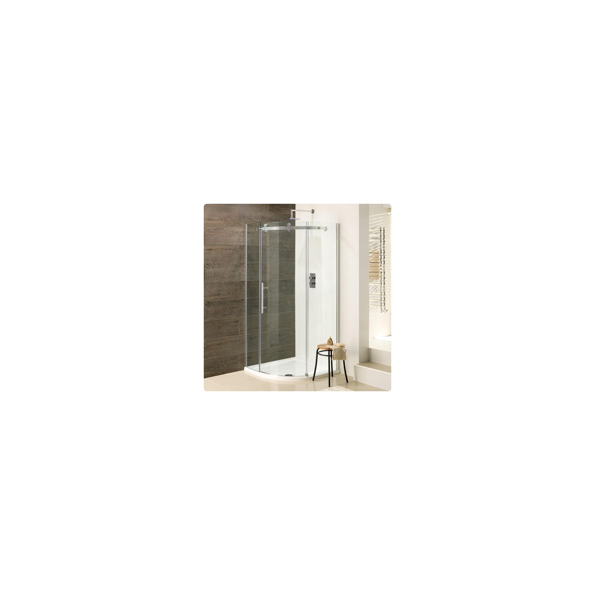 Duchy Deluxe Silver Quadrant Shower Enclosure 1000mm (Complete with Tray), 10mm Glass at Tesco Direct