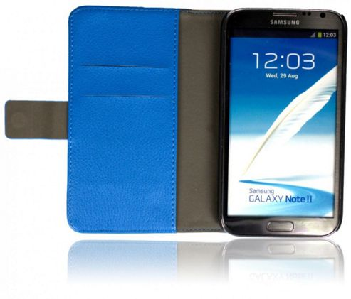 U-bop Neo-ORBIT Horizontal Smartphone Flip Case Blue - For Samsung Galaxy S4