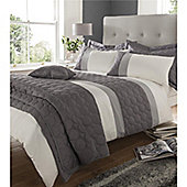 Catherine Lansfield Home Universal  Duvet Cover Set - - Charcoal
