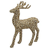 Gold Glitter Stag Christmas Room Decoration