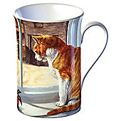 Tesco Single Fine Bone China Ginger Tom cat Mug