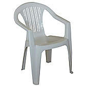 Plastic Stacking Garden Chair, White