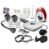 Swann SWNVA-460AH2 2 Camera Wireless IP High Definition CCTV Security System HD 720p 7 Alarm sensors and Siren