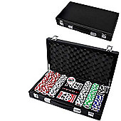 World Series Of Poker Casino Poker Chips 300 Set W/ Leather Case + Dice