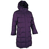 Charlotte Long Length Girls Padded Showerproof Water Resistant Jacket Coat - Purple