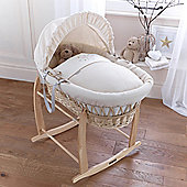 Clair de lune Stardust Natural Wicker Moses Basket - Cream