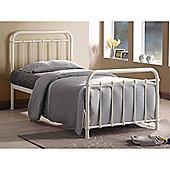 Ivory Metal Bed Frame - Single 3ft