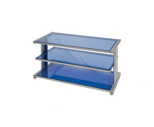 Techlink AV Rack Metal TV Stand for LCD / Plasma's - Silver / Blue
