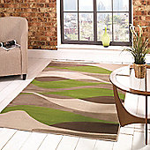 Sincerity Modern Contour Green 80x150 cm Rug