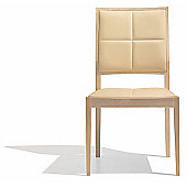 Andreu World Manila Side Chair - Low Back - Leather Piel-Red