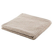 Elegant Home Textured Square Bath Towel Taupe