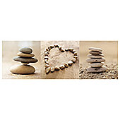 Pebble Canvases Set of 3 20 x 60cm