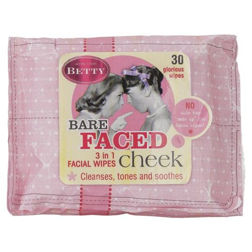 Along Came Betty Facial Wipes Bare Faced Cheek 30pk