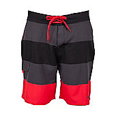 Stripe Mens Boardshorts - Red