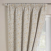 Rectella Mia Blue Luxury Jacqaurd Pencil Pleat Curtains -112x137cm