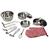 Bigjigs Toys BJ606 Stainless Steel Kitchenware Set