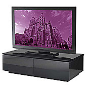 Vienna High Gloss Black TV Stand - Assembled