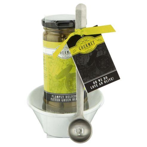 Gourmet Ceramic Olive Bowl & Olive Spoon Set