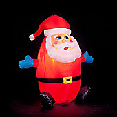 4ft Humpty Dumpty Inflatable Santa