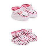 Spotty and Bunny Rabbit Booties- 2 Pack
