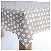 Wipe Clean Tablecloth, Cream Spot, Large