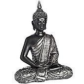 Buddha - Dark Meditating Buddha - Black / Grey