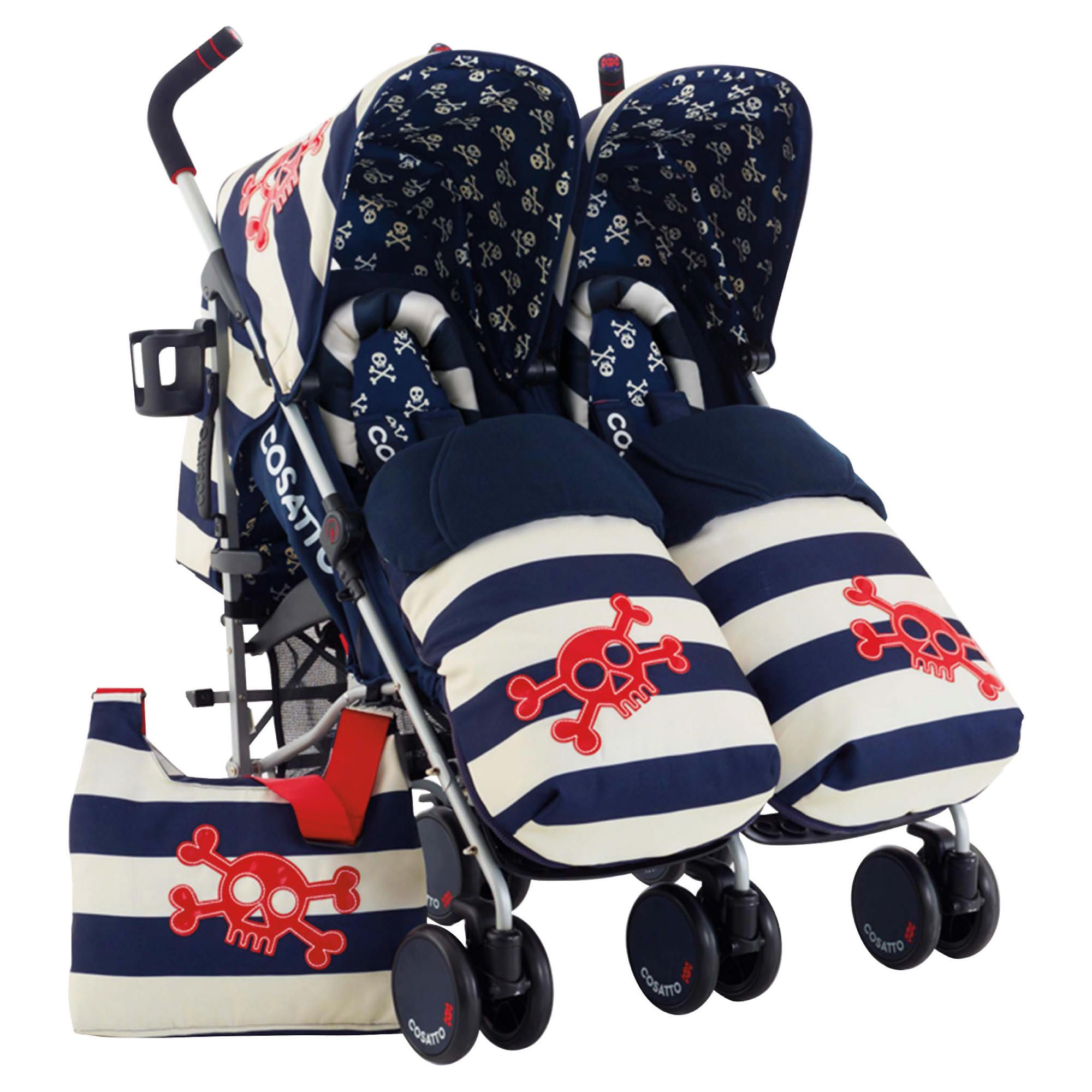 Cosatto Supa Dupa Twin Pushchair Ahoy There at Tesco Direct