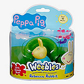 Peppa Pig Weebles Wobbily Figure And Base - Rebecca Rabbit