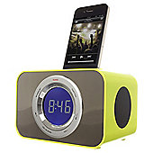 Kitsound Radio Clock Dock for iPhone 4/4s, Lime Green