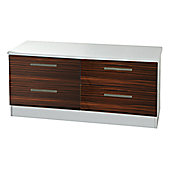 Welcome Furniture Knightsbridge 4 Drawer Chest - White - Ebony