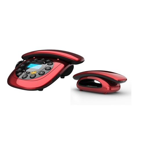 Binatone CARRERA-COMBO Twin Combo Phone Wired & DECT in Red