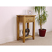 Nebraska Modern Oak Console Table / 1 Drawer With Shelf / Living Room Furniture