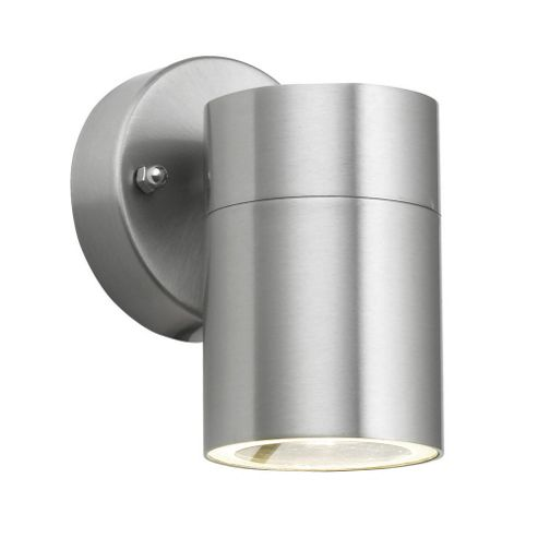 Buy Barrow IP44 Outdoor Downlight Wall Light in Brushed Chrome from our Wall & Porch Lights ...