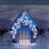 4.6m Set of 200 Blue & Ice White Multifunction Icicle LED Lights