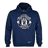 2013-14 Man Utd Nike Core Hooded Top (Navy) - Navy