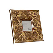 Linea Etched Gold Washed Wooden Photo Frame 4X4 In Gold