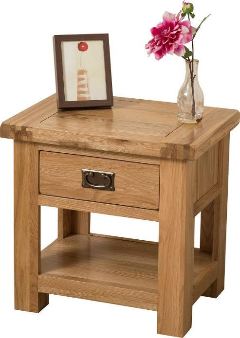 Buy Cottage Solid Oak 1 Drawer Lamp Side Table Cabinet Bedroom Furniture From Our Side Lamp
