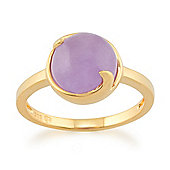Gemondo Lavender Jade 'Vita' Pastel Ring in 9ct Yellow Gold Plated Sterling Silver