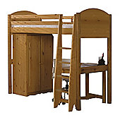 Verona High Sleeper Bed - Antique - Set 1