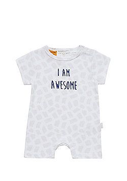 Pumpkin Patch I Am Awesome Slogan Romper - White