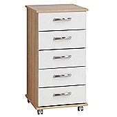 Ideal Furniture Regal 5 Drawer Slim Chest