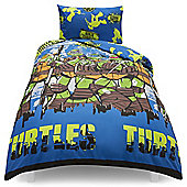 Teenage Mutant Ninja Turtles City Single Duvet Set TESCO EXCLUSIVE