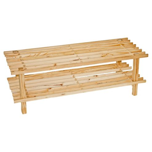buy h l russel 2 tier wooden shoe rack from our boxes. Black Bedroom Furniture Sets. Home Design Ideas