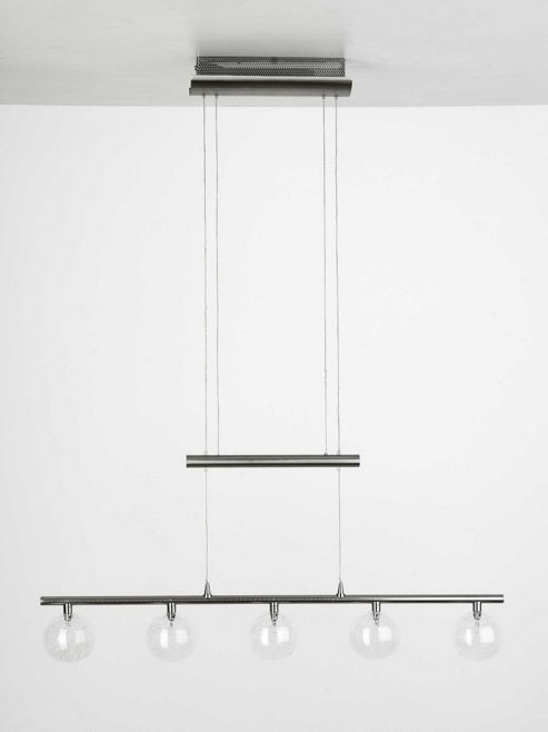 Brilliant Dominica 140 cm Pendant in Satin Chrome