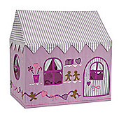 Kiddiewinkles 2-in-1 Gingerbread Cottage & Sweet Shop Playhouse Tent, Small