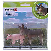 Schleich Farm Babies Set - Piglet and Donkey