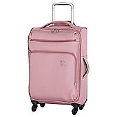 IT Luggage Megalite 4-Wheel Suitcase, Pink Medium
