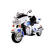 Kids Chopper Cruiser Style Ride On Bike - White