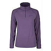 Waffle Womens Antipill Anti Bobble Warm Walking Hiking Mid Layer Micro Fleece - Purple