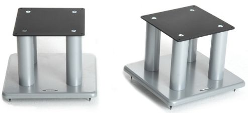 Atacama Speaker Stands in Silver - Height 200mm